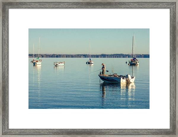 Lake Mendota Fishing Framed Print