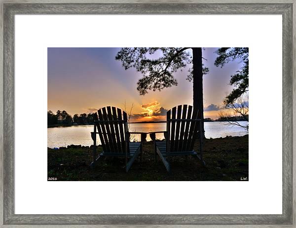 Lake Murray Relaxation Framed Print
