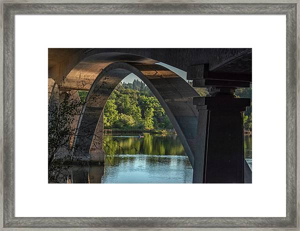 Lake Natoma Arch Framed Print