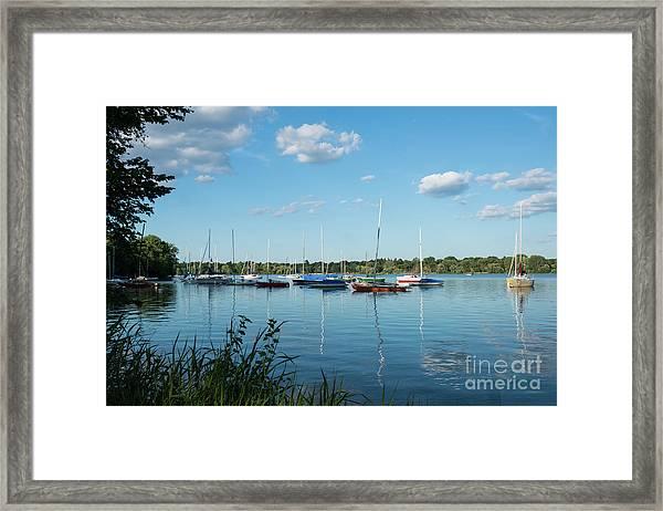 Lake Nokomis Minneapolis City Of Lakes Framed Print