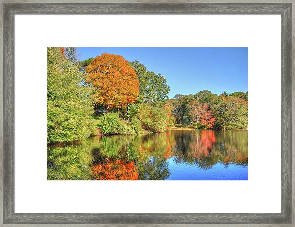 Lake Noquochoke, Dartmouth, Ma Framed Print