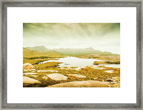 Lake On A Mountain Framed Print
