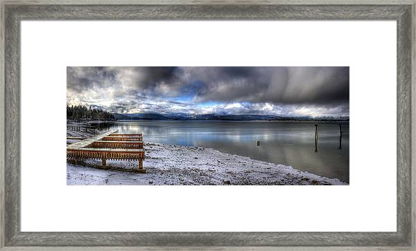 Lake Pend D'oreille At 41 South Framed Print