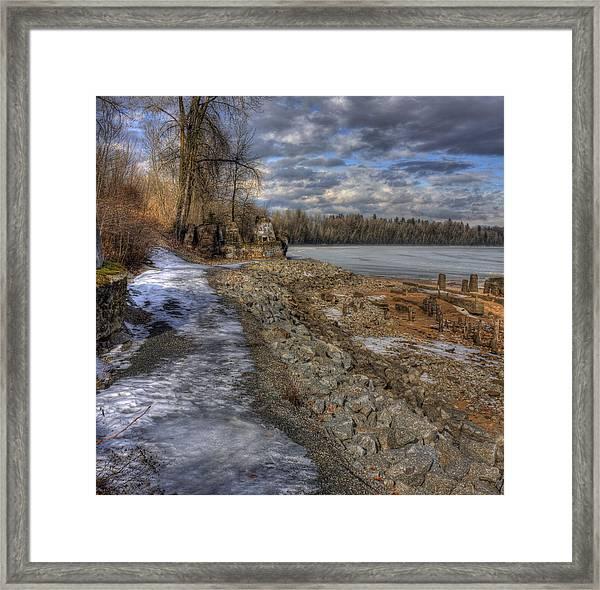 Lake Pend D'oreille At Humbird Ruins Framed Print