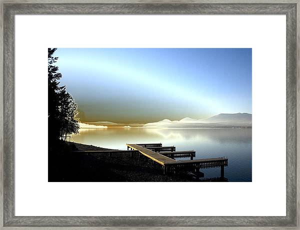 Lake Pend D'oreille Fantasy Framed Print