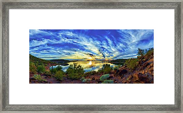 Lake Pleasant Sunset 3 Framed Print