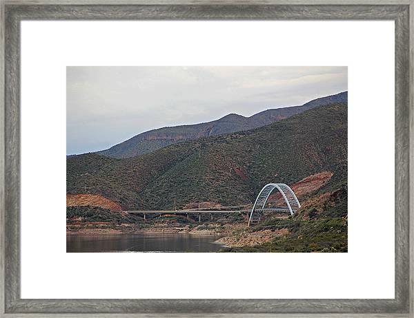 Lake Roosevelt Bridge 2 Framed Print