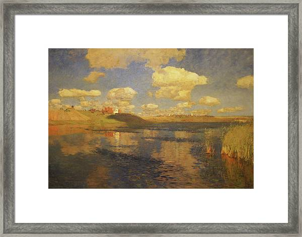 Lake Russia Framed Print by Isaac Levitan