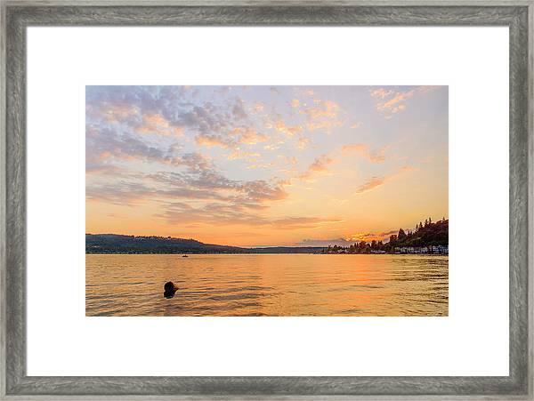 Lake Sammamish Framed Print
