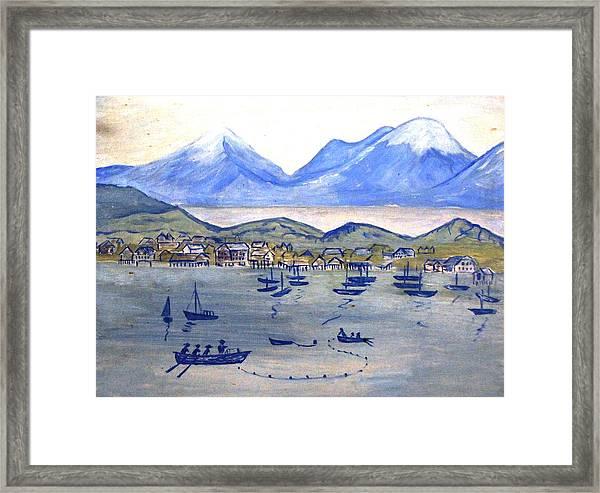 Lake Scene By Bette Wolfe Framed Print