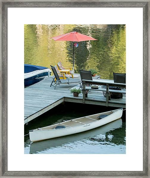 Lake-side Dock Framed Print