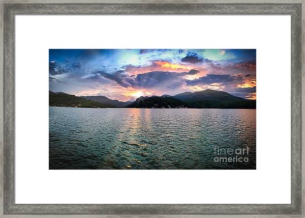 Lake Solstice Framed Print