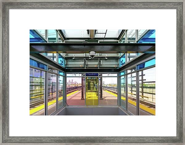 Lake Street Light Rail Station  Framed Print