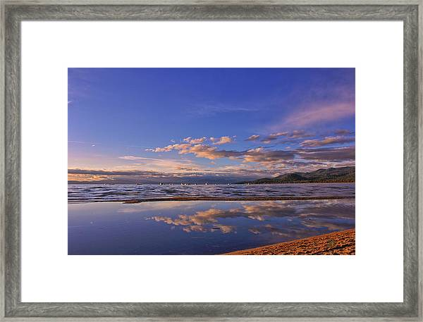 Lake Tahoe Evening Framed Print