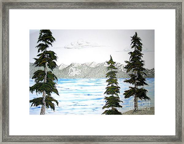 Lake Tahoe In Summer Framed Print by Ed Moore