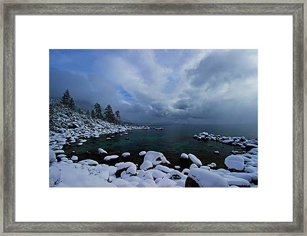 Lake Tahoe Snow Day Framed Print