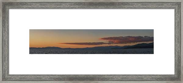 Lake Tahoe South Shore Panorama - 1 Framed Print