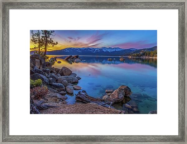 Lake Tahoe Spring Kaleidoscope  Framed Print