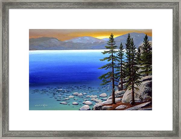 Lake Tahoe Sunrise Framed Print