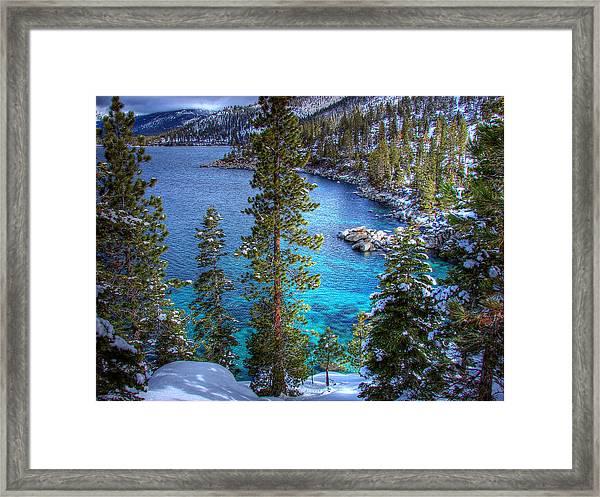 Lake Tahoe Winterscape Framed Print