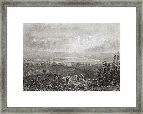 Lake Tiberius, Palestine. 19th Century Framed Print