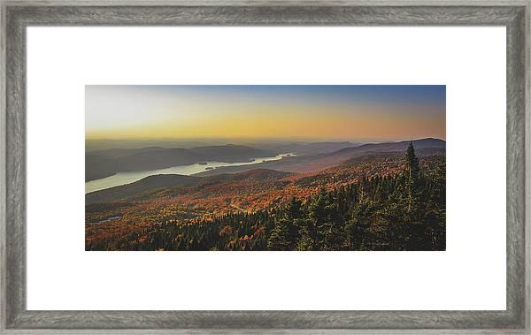 Lake Tremblant At Sunset Framed Print