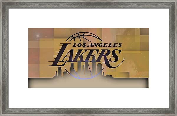 Lakers Skyline Framed Print