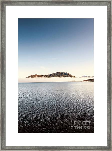 Lakes In Morning View Framed Print