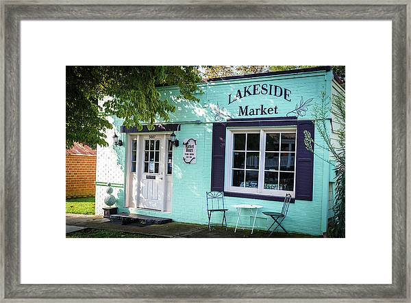 Lakeside Market Framed Print