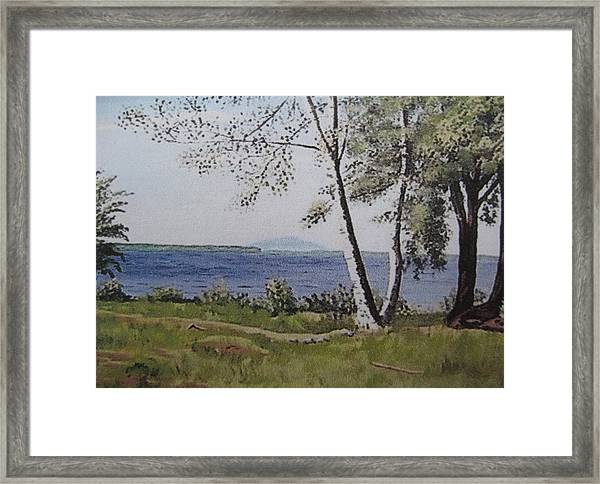 Lakeview Landing Framed Print