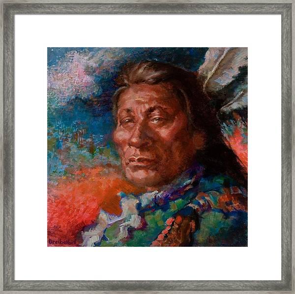 Lakota Man Framed Print