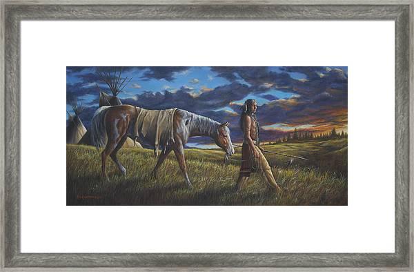 Lakota Sunrise Framed Print