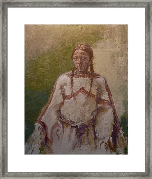 Lakota Woman Framed Print