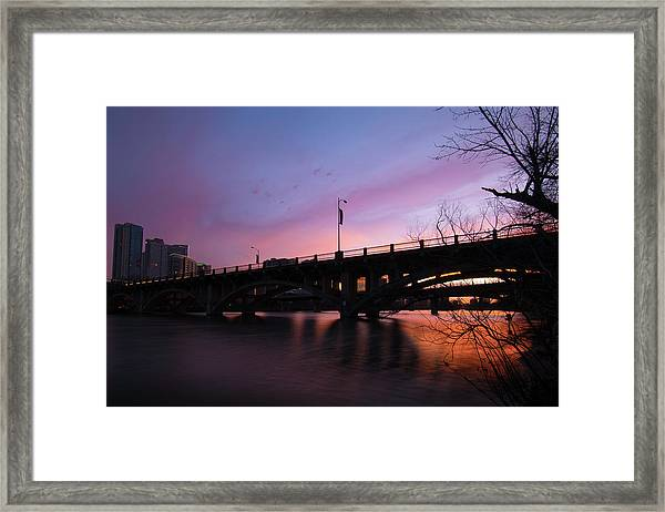 Lamar Blvd Bridge Framed Print