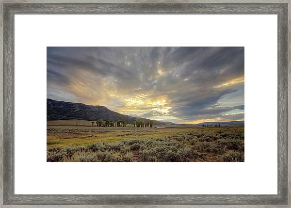 Lamar Valley Sunset Framed Print