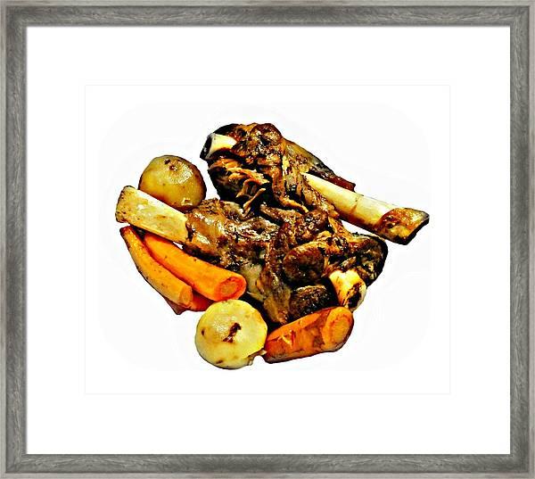 Mom's Lamb Stew Framed Print