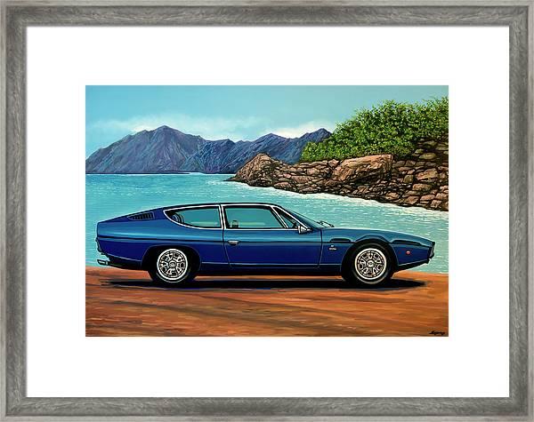 Lamborghini Espada 1968 Painting Framed Print