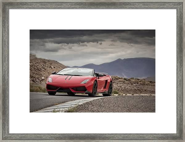 Lamborghini Gallardo Lp570-4 Spyder Performante Framed Print