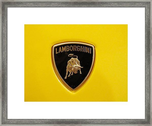 Lamborghini Logo Photograph By Sydney Alvares