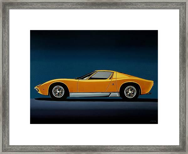 Lamborghini Miura 1966 Painting Framed Print