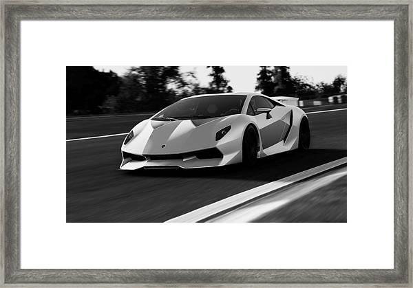 Lamborghini Sesto Elemento 20 Framed Print By Andrea Mazzocchetti
