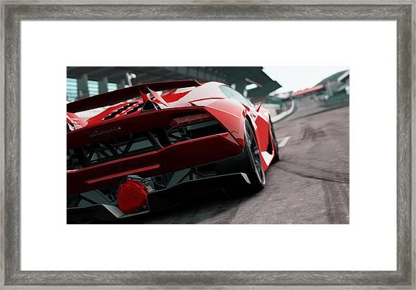 Lamborghini Sesto Elemento Rear View Painting By Andrea Mazzocchetti