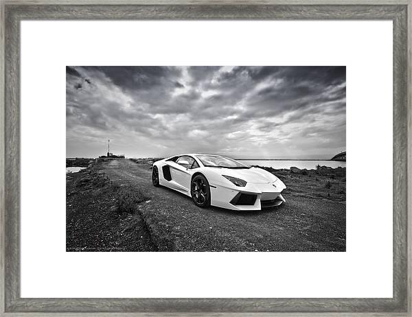 Lamborgini Aventador Framed Print