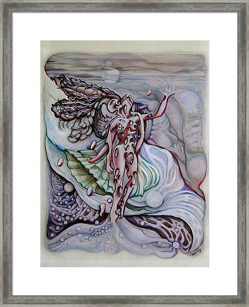Lament A Wing Framed Print