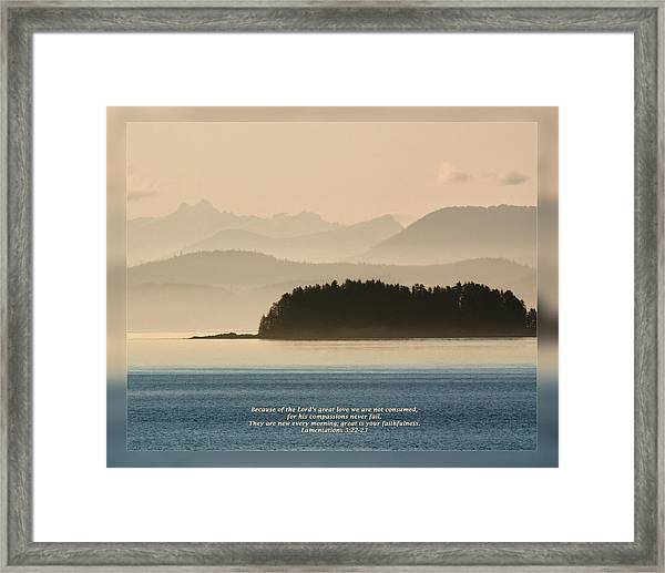 Lamentations 3 22-23 Framed Print