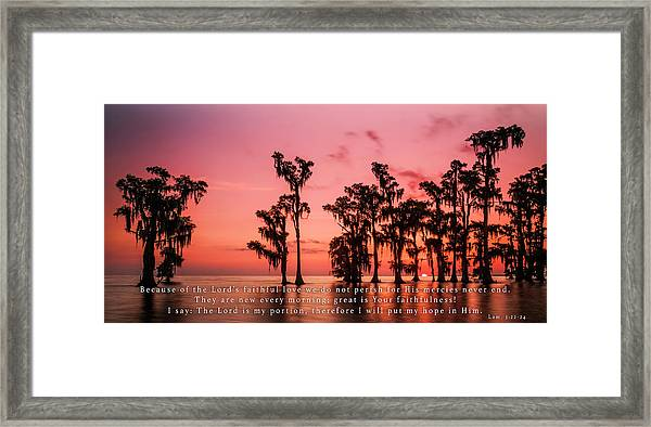 Lamentations 3 Framed Print