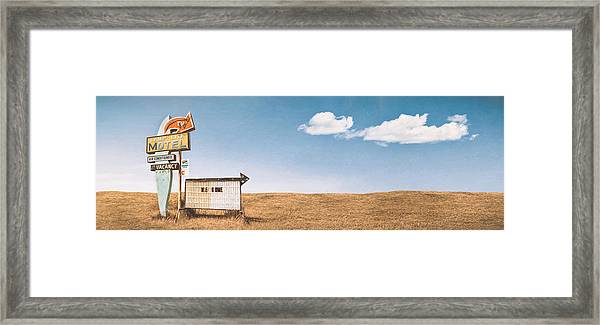 Lamp-lite Motel Framed Print