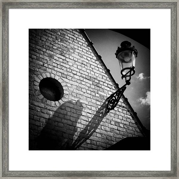 Lamp With Shadow Framed Print