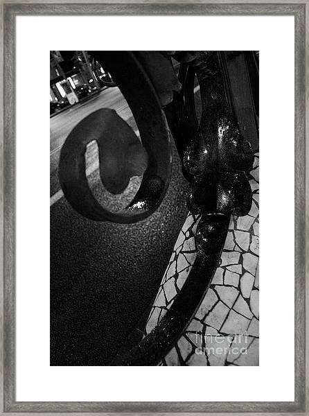 Lamppost Of Passeig De Gracia Framed Print