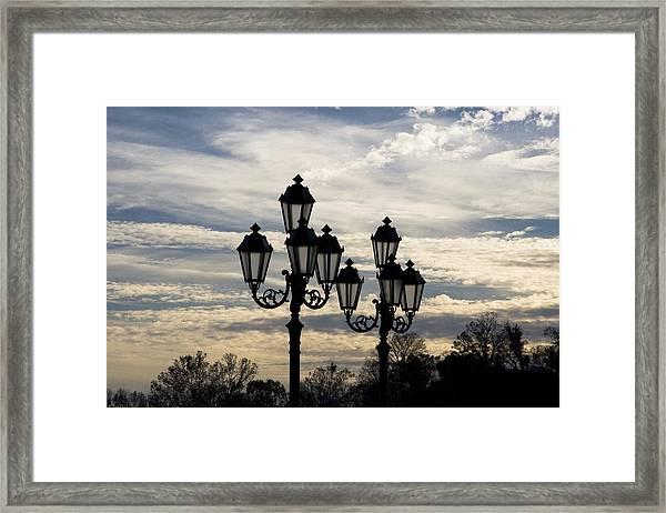 Lampposts Framed Print